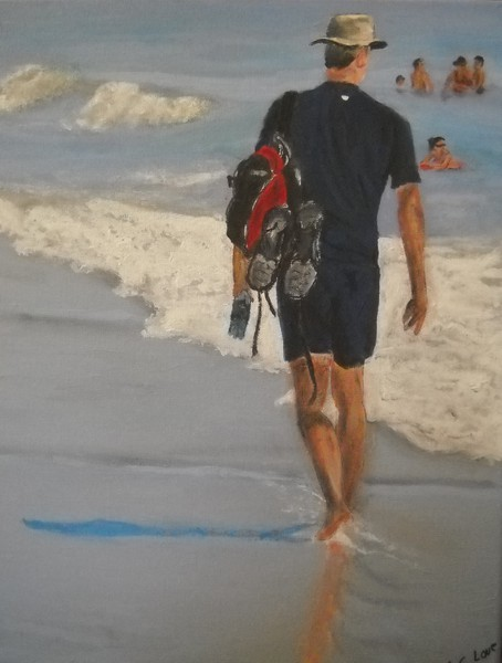 Walk on the Beach by S. C. Love 2013 Red Ribbon Painting 2013 Fulton County Arts Council Annual Membership Show