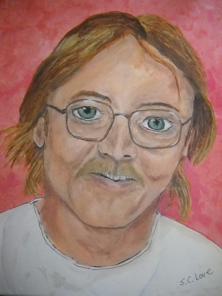 Jeffrey Dale Love by S. C. Love  2014 I do many Portraits of members of my family.  This is a painting of my Late Brother Jeff.
