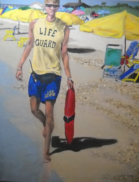 Life Guard by S. C. Love 2013 Blue Ribbon Painting 2013 Fulton County Arts Council Annual Membership Show